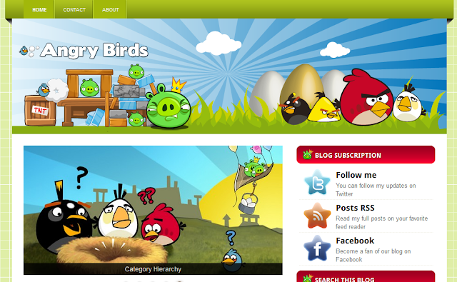 Angry Birds - Colorful Blogger Template