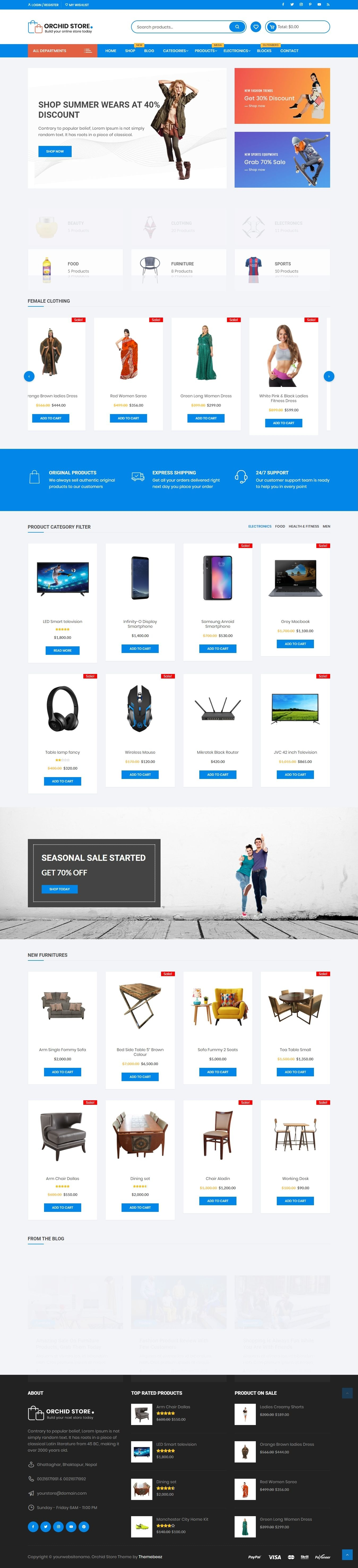 Orchid Store - Free Clean & Elegant Woocommerce Theme