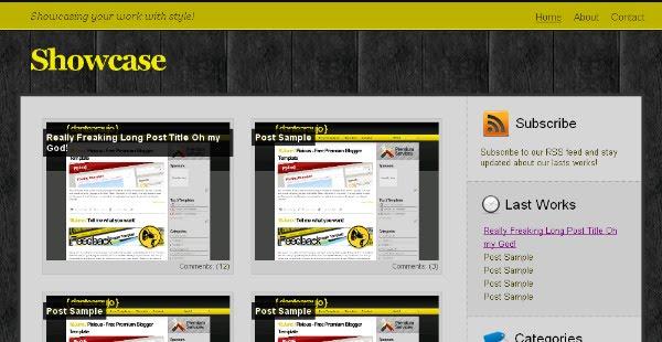 Showcase - Gallery Blogger Template
