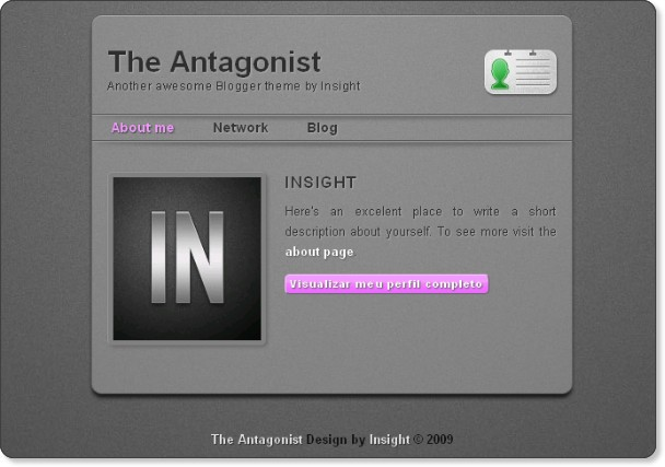 The Antagonist - One Column Business Template