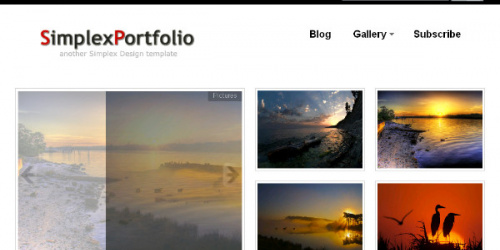 Simplex Portfolio - Photography Template