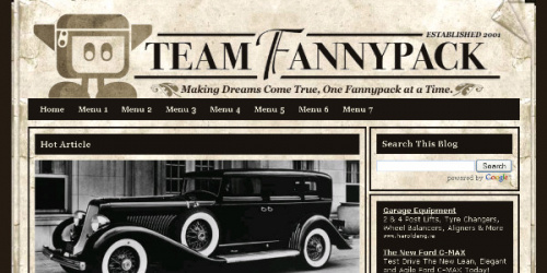Old Paper - Vintage Style Blogger Template
