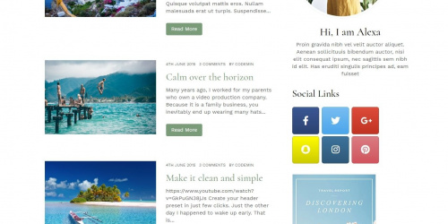 Maicha Blog - Free Minimal WordPress Blog Theme