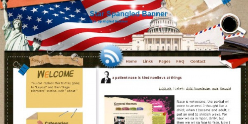 Star Spangled Banner -  American Theme Template