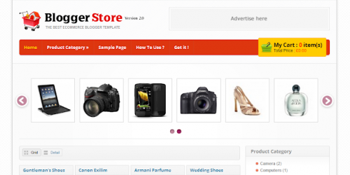 Blogger Store - Specialist Blogger Template