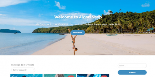 Algori Shop - Free Clean & Professional WooCommerce Theme