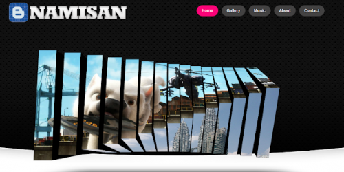 Namisan - Stunning Slider Blogger Template
