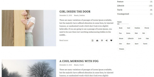 X Blog - Free Elegant WordPress Theme