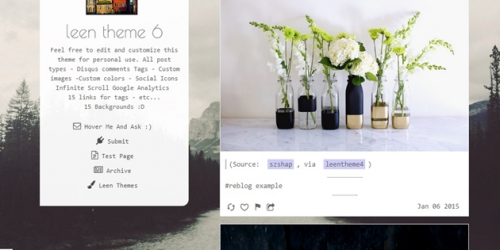 Melek - Free Simple Tumblr Blog Theme