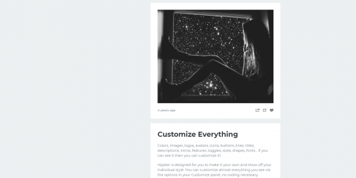 Hipster - Customize everything