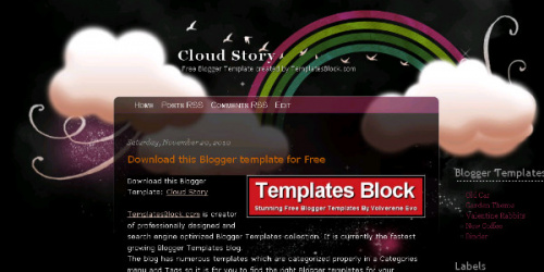 Cloud Story - Cute Personal Blogger Template
