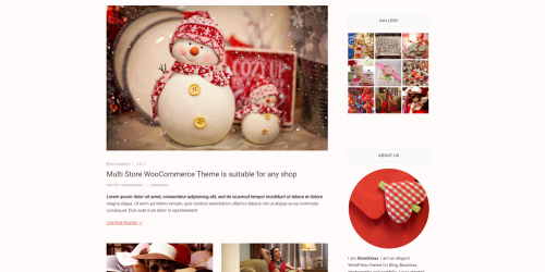 StoreXmas - Free Responsive & Holiday WooCommerce Theme