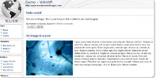 WikiWP - Wikipedia Style Blogger Template