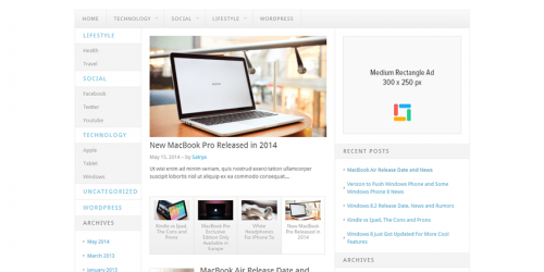 Delivery Lite - Free WordPress Tech Blog Theme