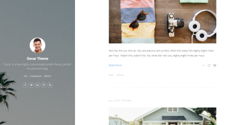 Oscar - Personal blog Tumblr theme