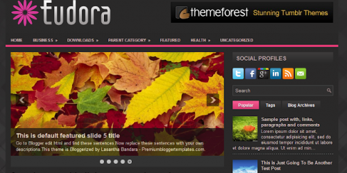 Eudora - Dark Magazine Blogger Template