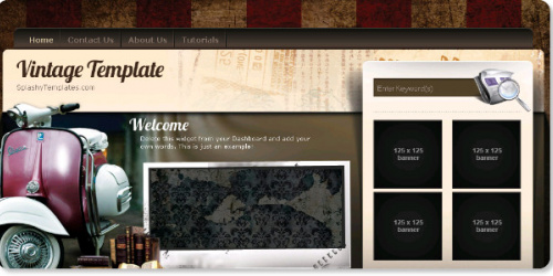 Vintage - Auto Blogger Template