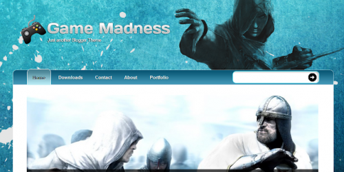 Game Madness - Assassins Creed Blogger Template