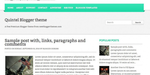 Quintel - Two Column Blogger Template