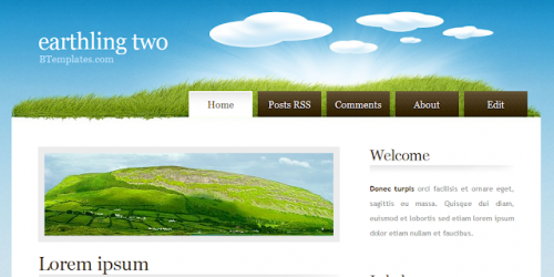 Earthling Two - Nature Theme Blogger Template