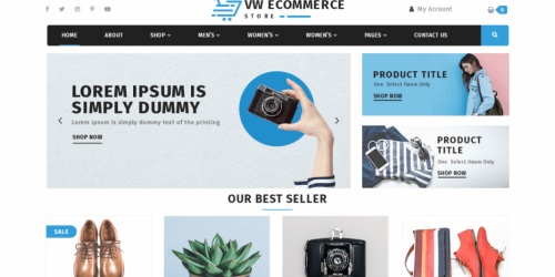 VW Ecommerce Store - Free Clean & Multipurpose WooCommerce Theme