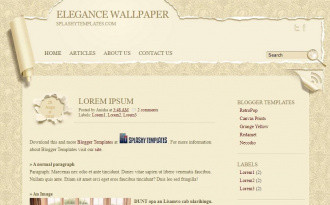 Elegance Wallpaper - Paper Style Blogger Template