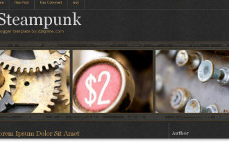 Steam Punk - Industry Blogger Template