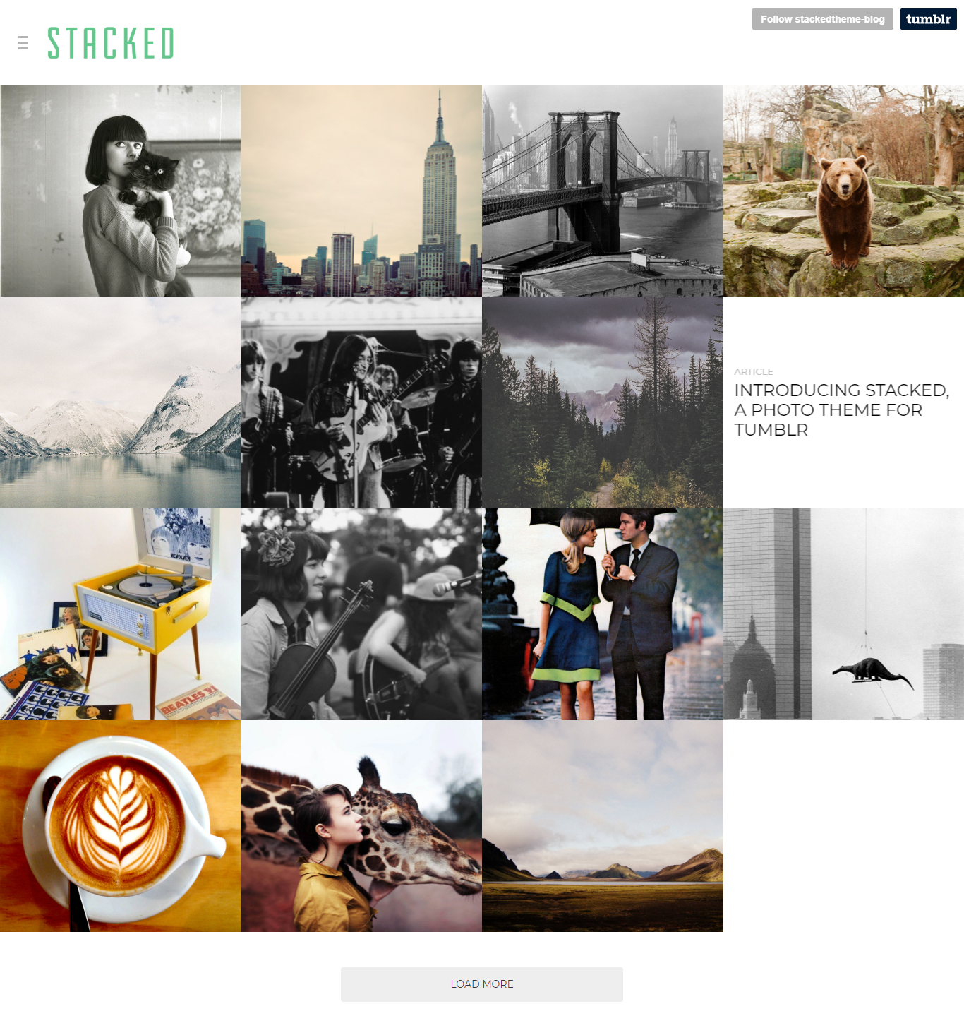 Stacked - A Multi-Layout Theme