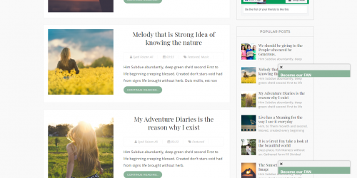 Milano Blogger Template - Clean and Responsive