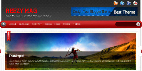 Reezy Mag - Professional Magazine Blogger Template