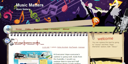 Music Matters - Music Blogger Template