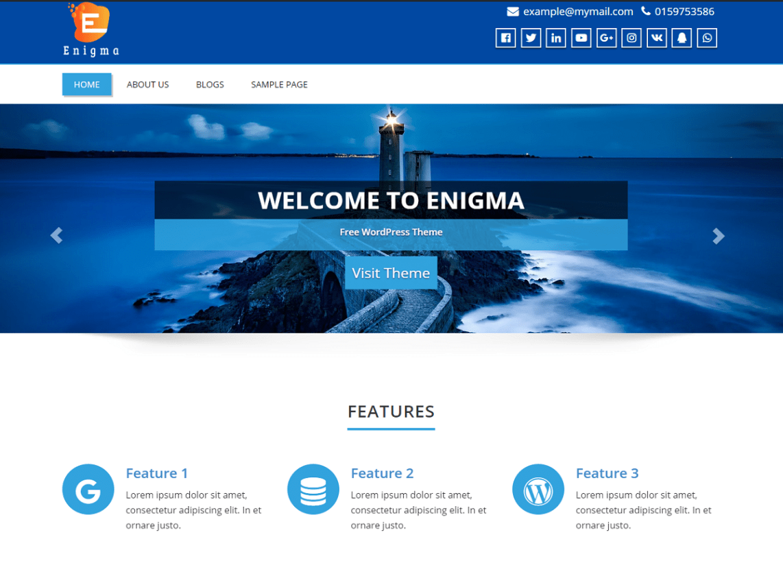 Engima - Free Multipurpose WordPress Theme