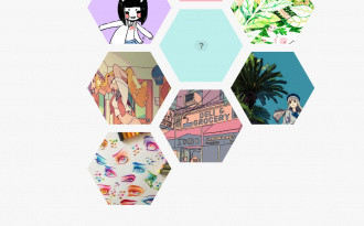 Honeycomb - Free Tumblr Hexagonal Grid Theme