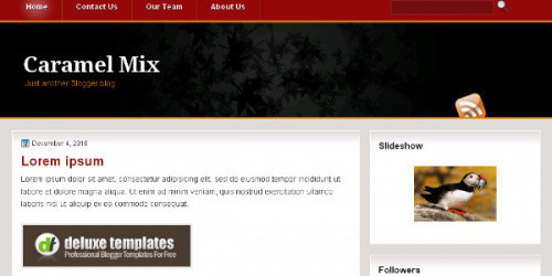 Caramel Mix - Simple Blogger Template