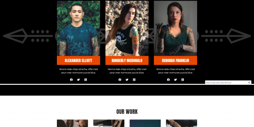 Neve Tattoo - Free Artistic and Attractive WooCommerce Theme