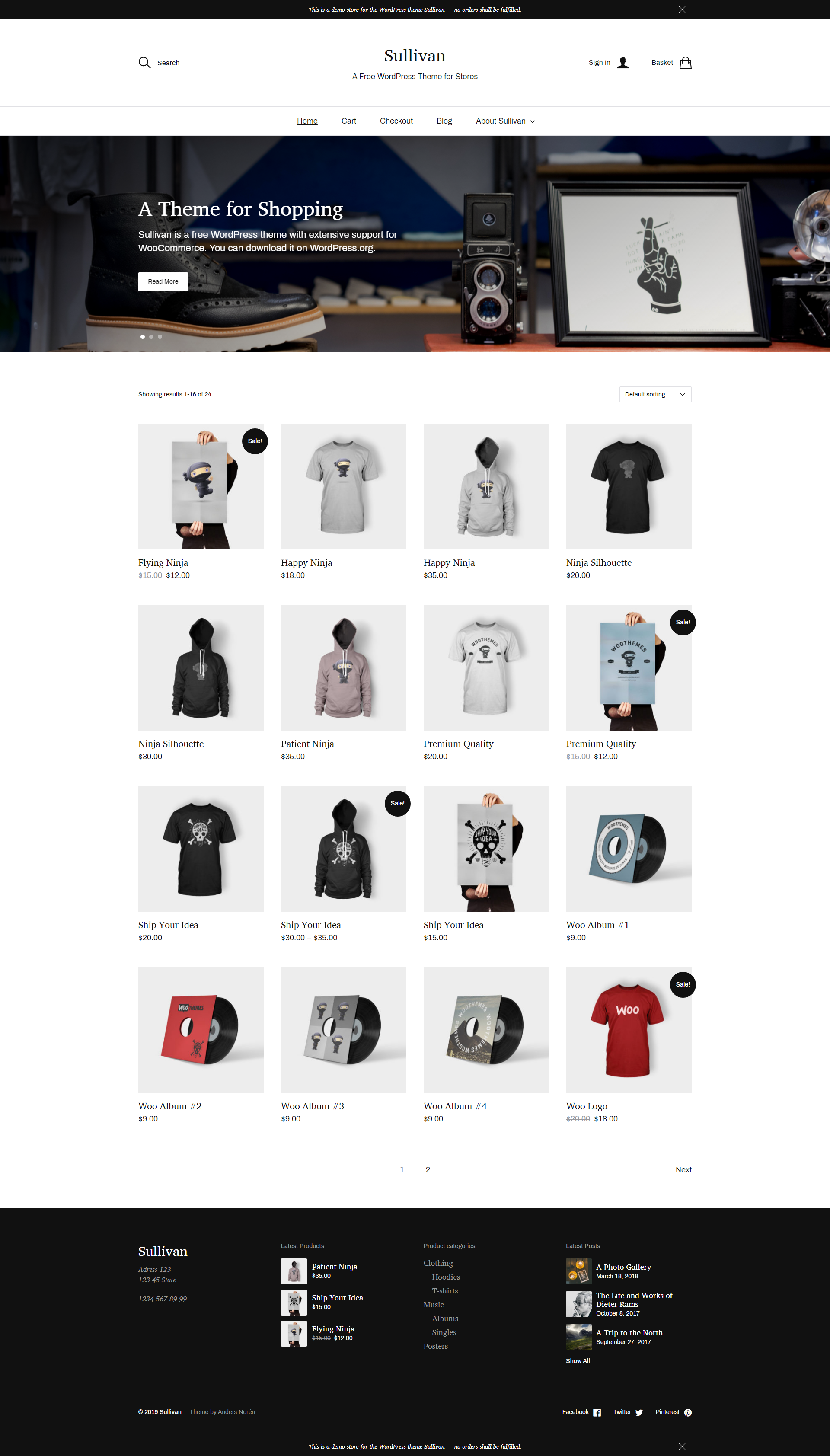 Sullivan - Free Simple & elegant WooCommerce Theme