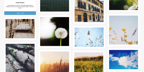 Accra - Simple Grid Tumblr Theme