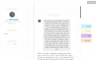 Notes - Free Modern Tumblr Blog Theme