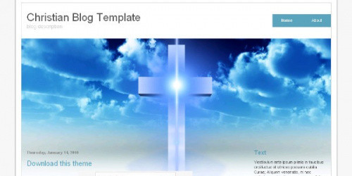Christian Blog - Religious Blogger Template