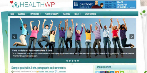 Healthwp - Two Column Blogger Template
