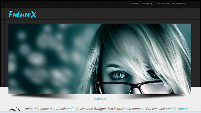 Future X - Professional Blogger Template