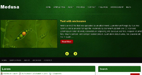 Medusa - Green Magazine Blogger Template
