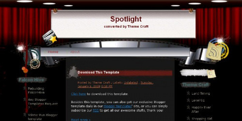 Spotlight - Movie Blogger Template