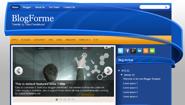 Blog Forme - 3D Style Blogger Template