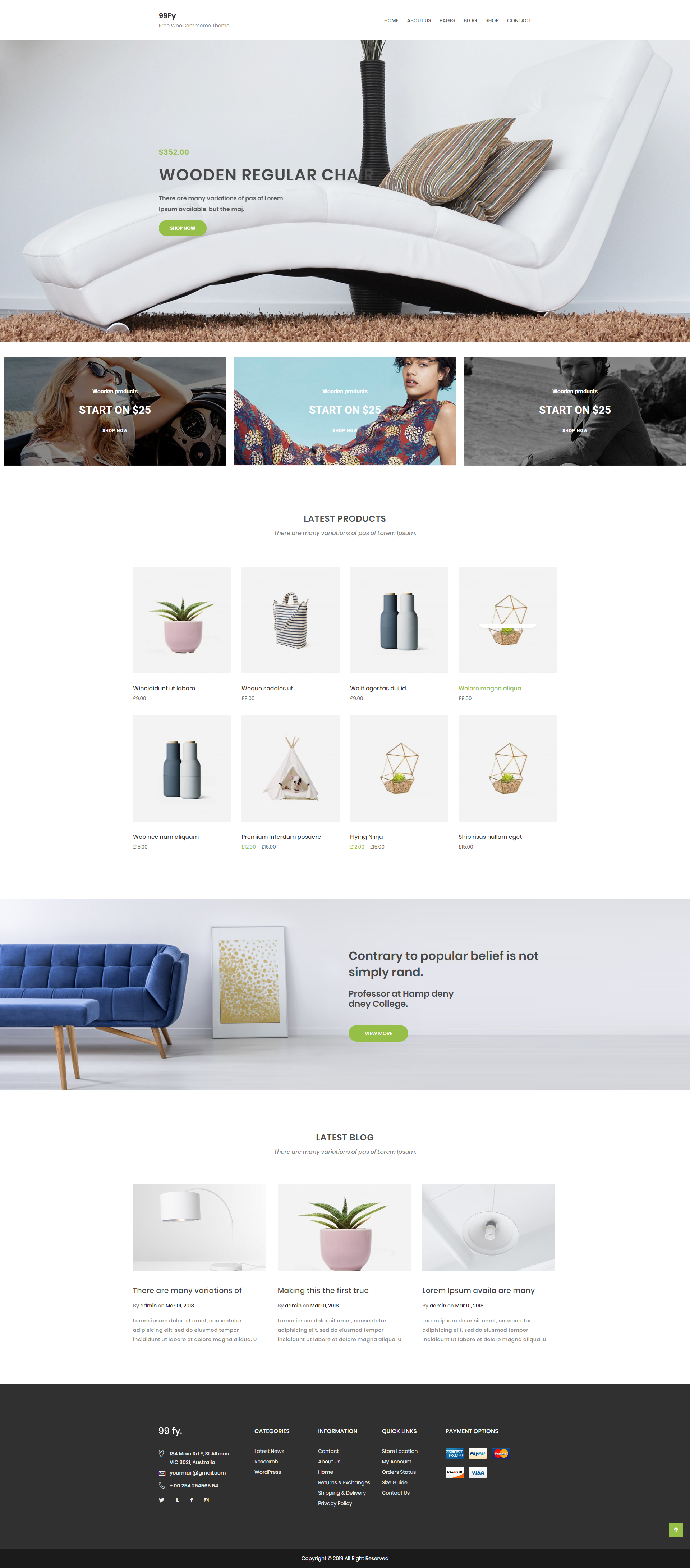 99FY - Free Multipurpose & Reliable WooCommerce Theme