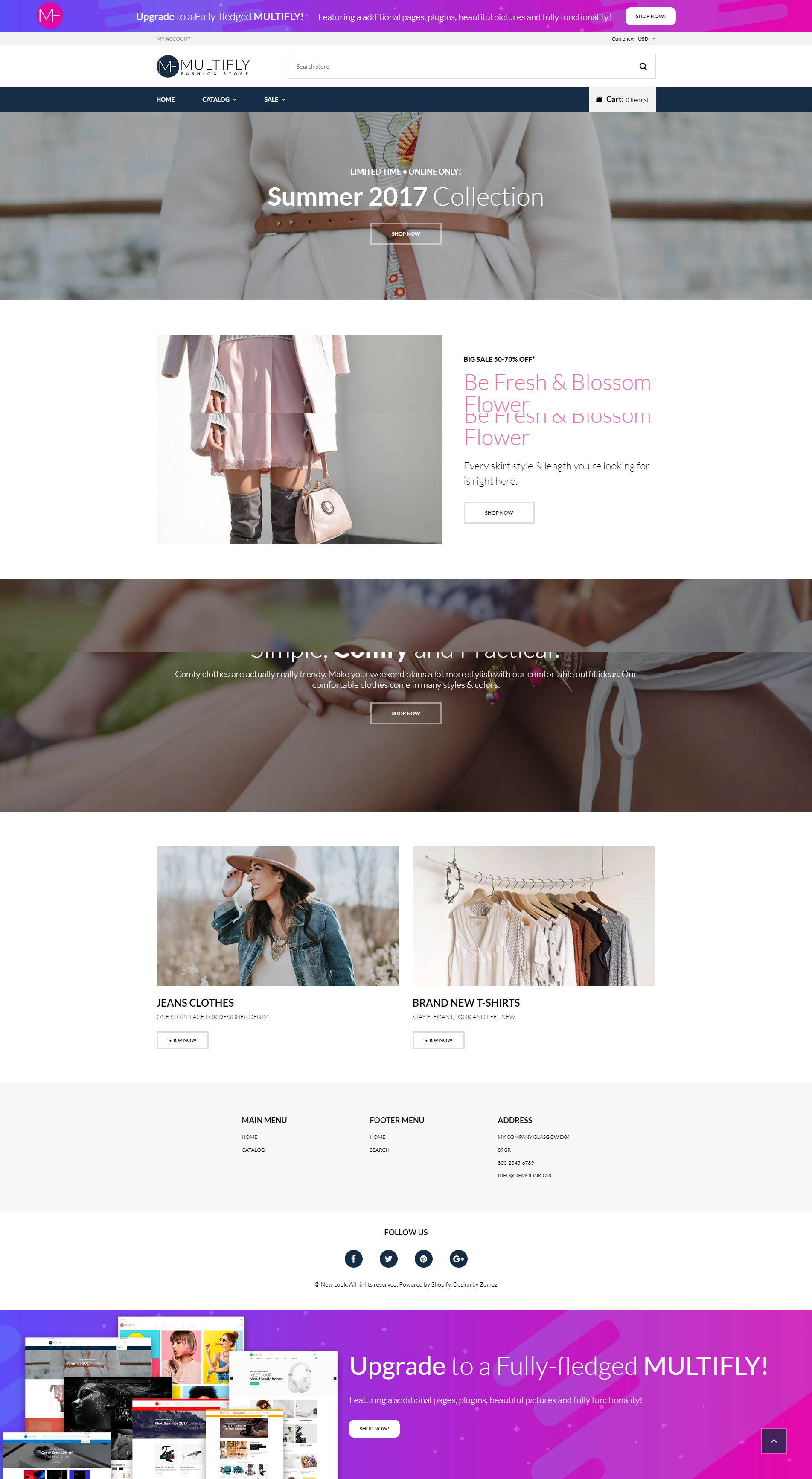Multifly - Free Fashion & Clothes Shopify Theme