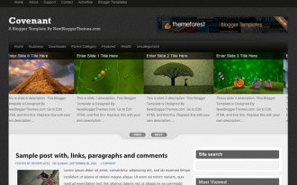 Covenant - Two Column Blogger Template
