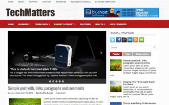 TechMatters - Two Column Blogger Template