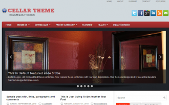 Cellar - Magazine Blogger Template