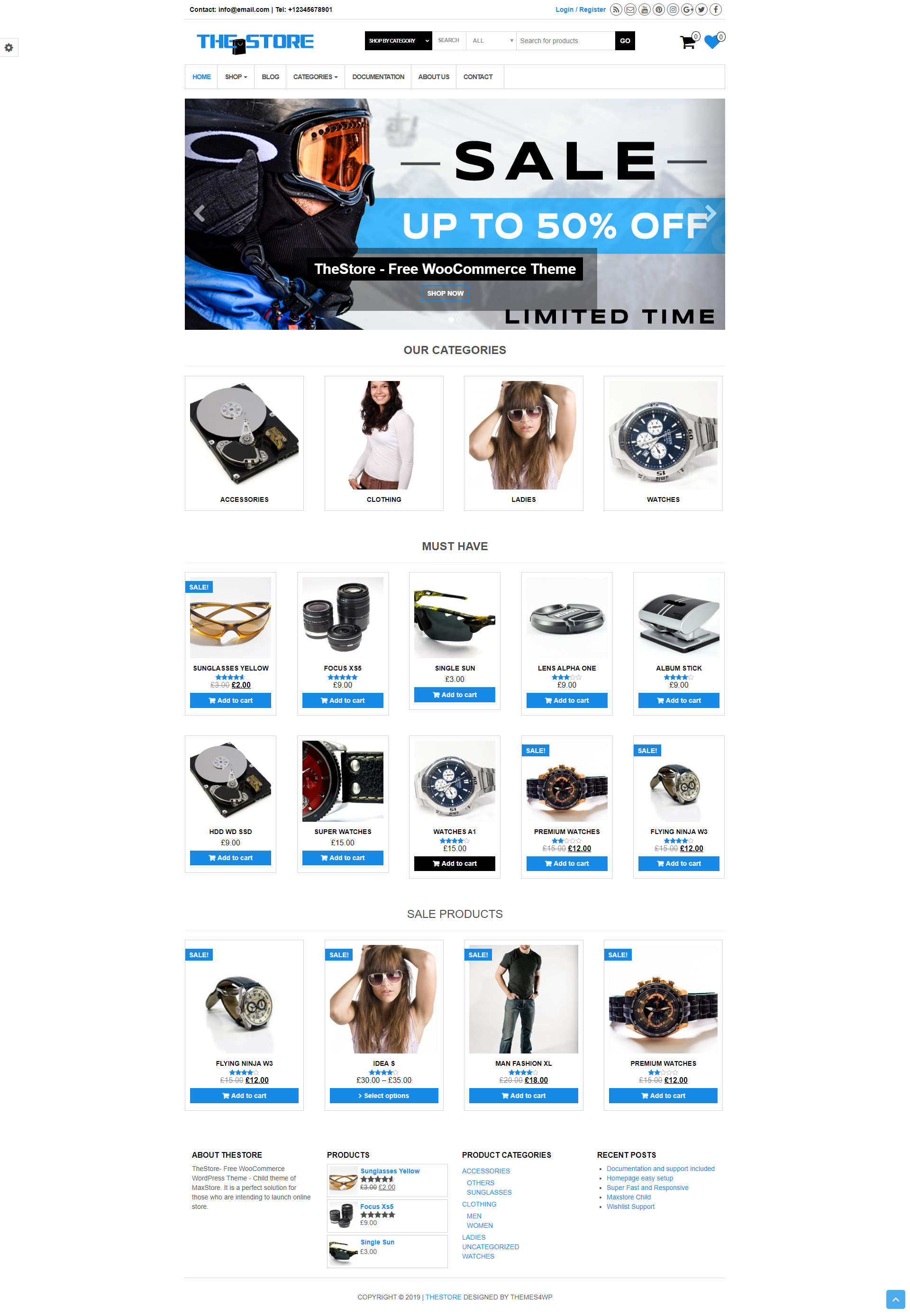 TheStore - Free Responsive & Simple WooCommerce Theme